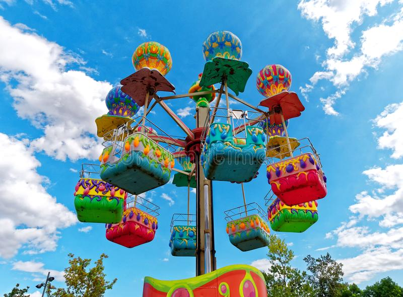 carousel merry go around funfair stock photo