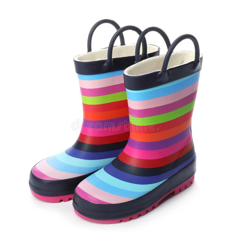 Free Colorful Children`s Rubber Boots Royalty Free Stock Photo - 126976165