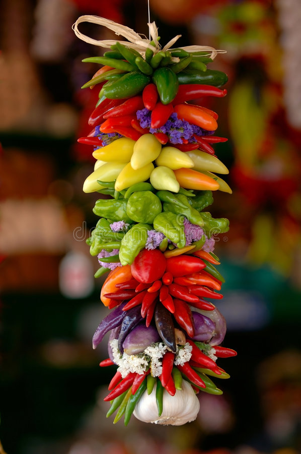 Colorful chili peppers royalty free stock image