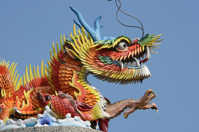 Download Colorful Chinese Dragon stock photo. Image of green, dragon - 14706200