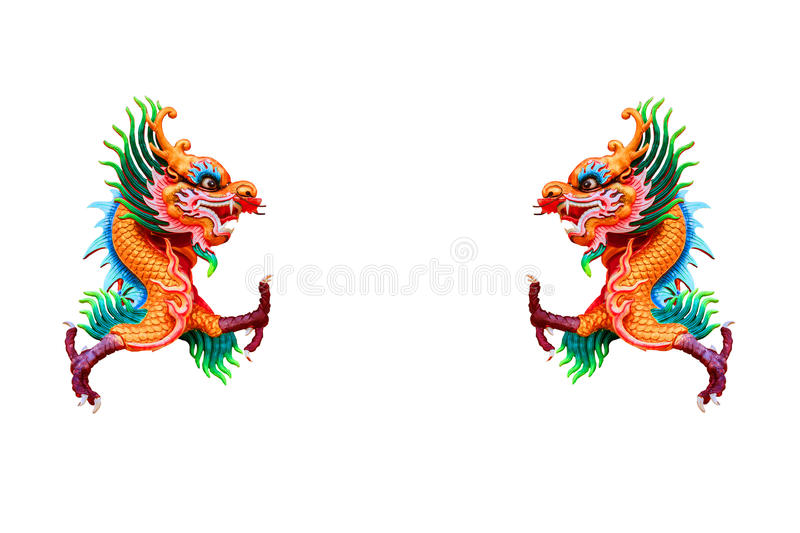 Colorful Chinese dragon stock images