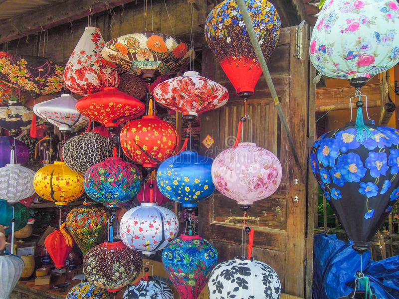 Download Colorful Chinese Lanterns For Sale At An Outdoor Market In Vietnam  Editorial Photo   Image