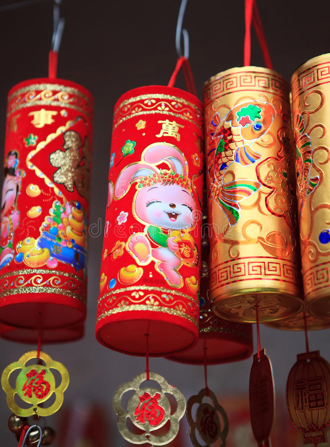 Download Colorful Chinese New Year Decorations Editorial Stock Image - Image: 18093029