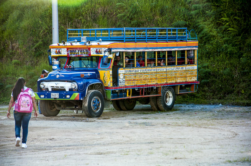 Download Colorful chiva bus editorial image. Image of colombia - 83721920