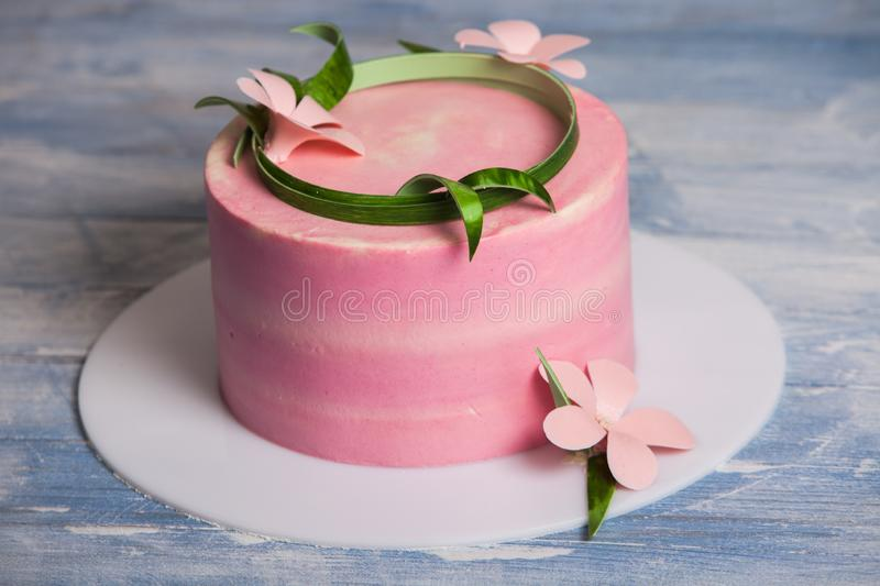 Colorful chocolate - vanilla layer cakefresh and sweet dessert cakes stock image
