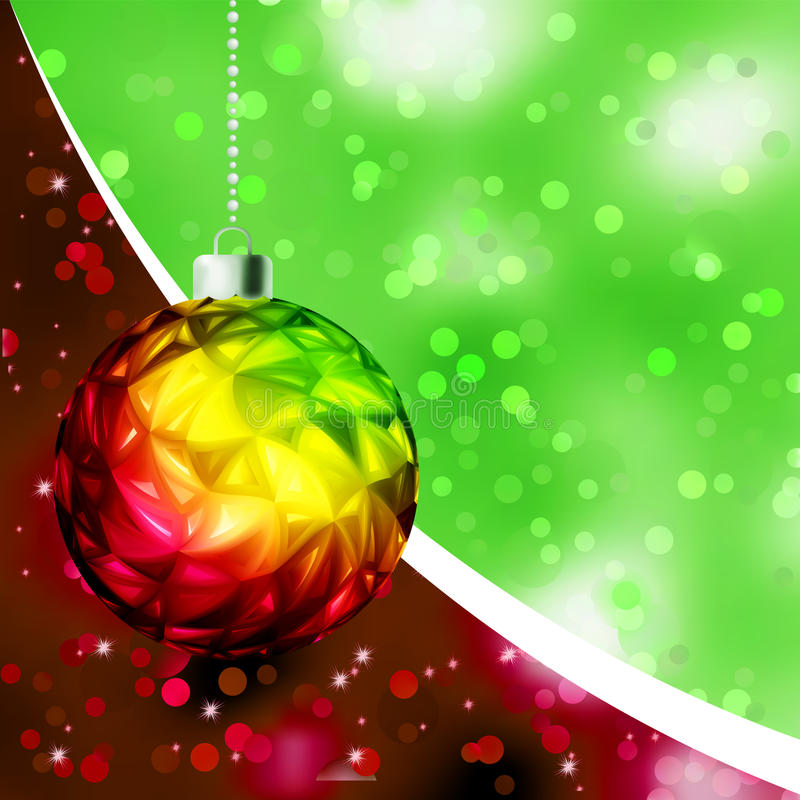 Download Colorful Christmas Ball Card Template. EPS 8 Stock Vector - Image: 20050236