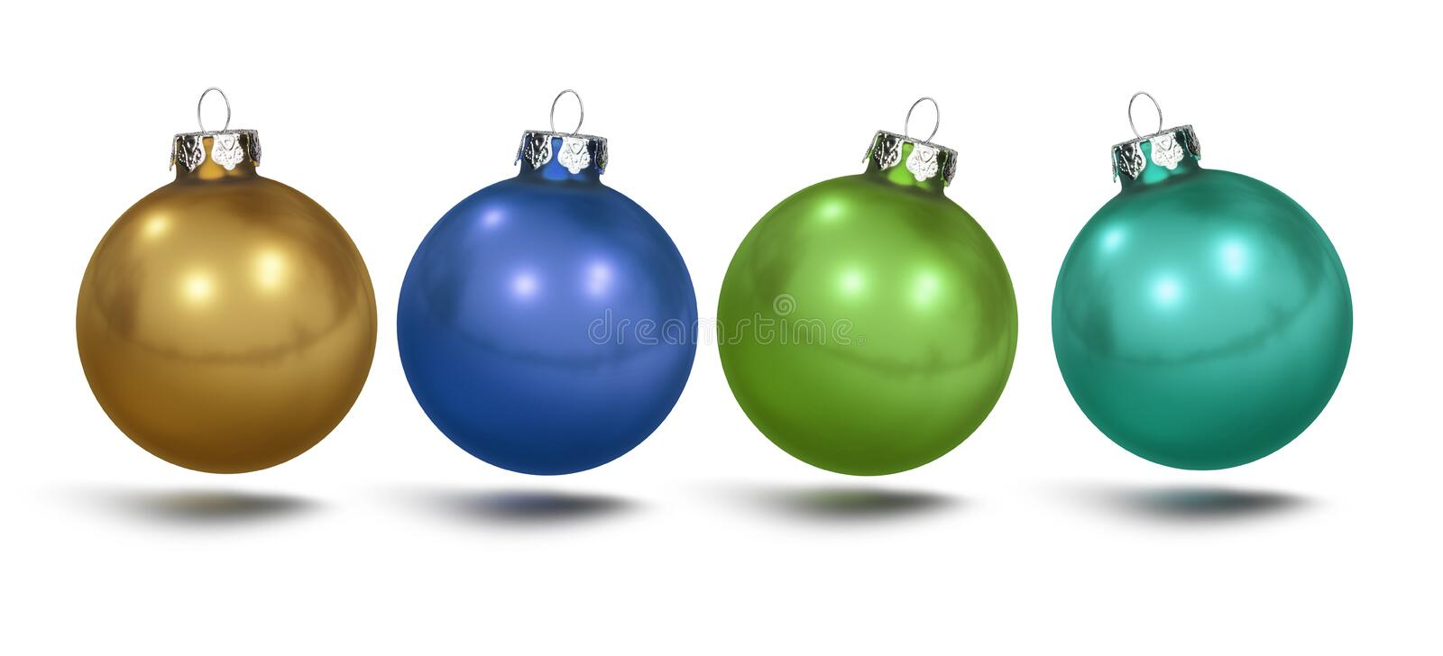 Colorful christmas Balls isolated royalty free stock photo
