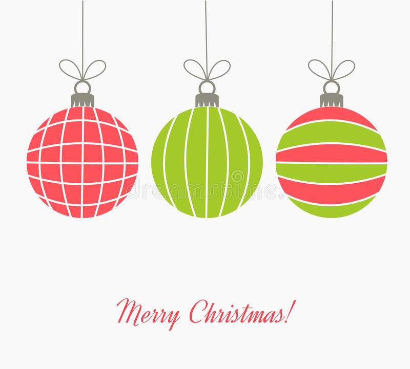 Colorful Christmas balls vector illustration