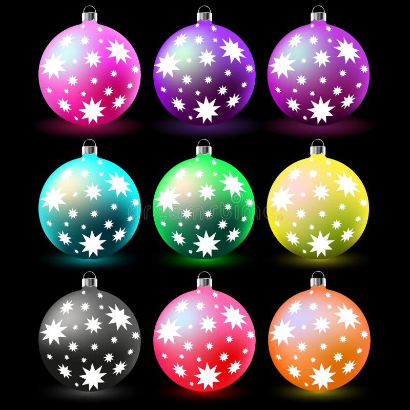 Colorful christmas balls. vector illustration