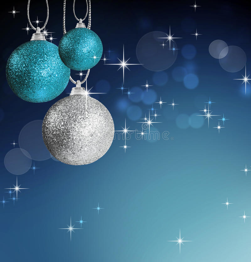 Colorful christmas bauble balls stock images