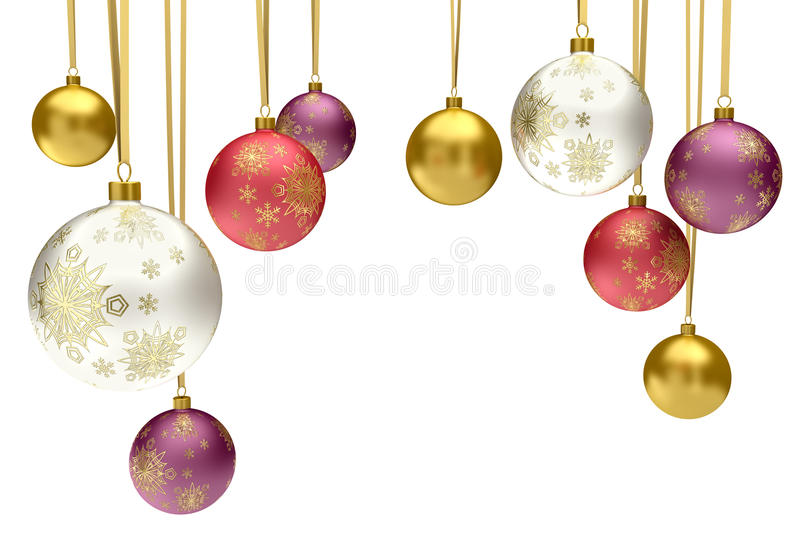Download Colorful Christmas Bauble Balls Stock Illustration - Image: 21854264