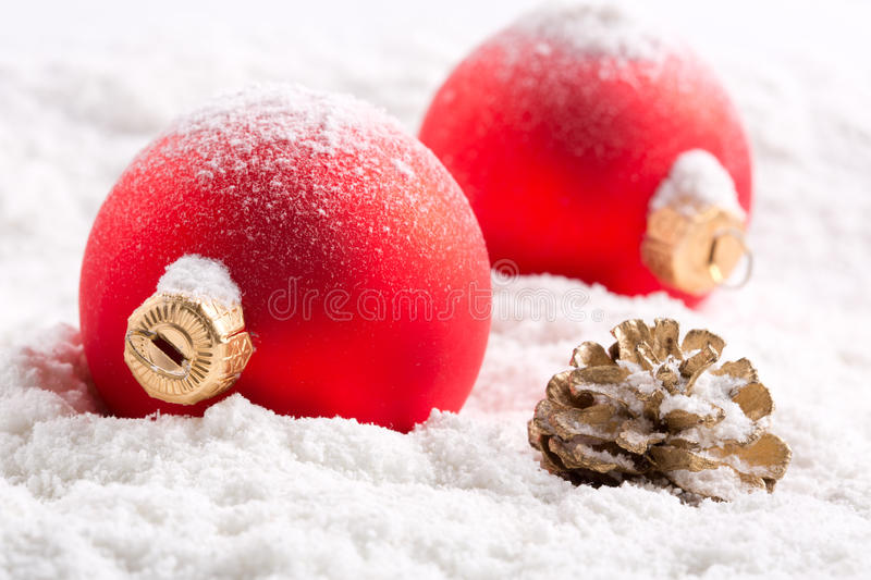 Download Colorful christmas baubles stock photo. Image of december - 26655002