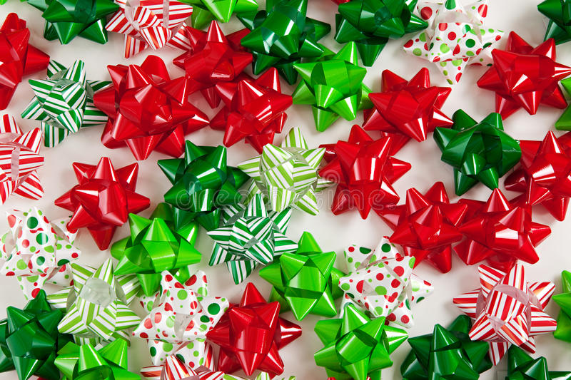Download Colorful Christmas Bows stock photo. Image of polka, stripes - 27844314