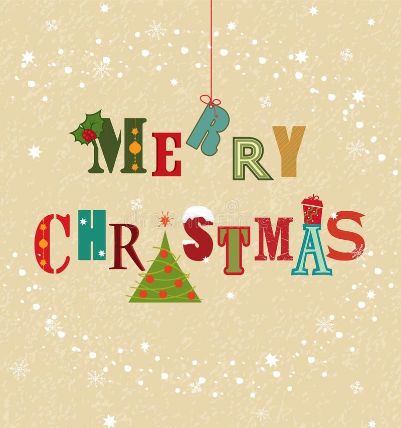 Colorful Christmas Card stock illustration