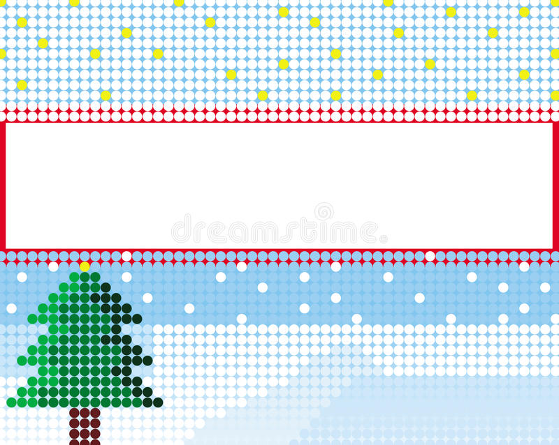 Colorful Christmas card made of circles vector stock photos