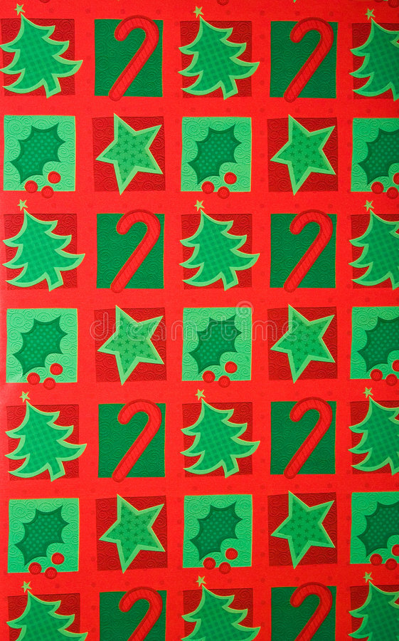 Colorful Christmas Gift Wrapping Paper Background Stock Image