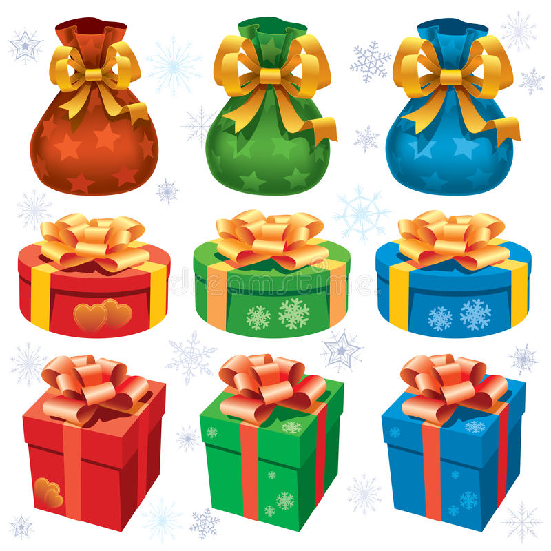 Download Colorful Christmas gifts stock vector. Image of symbol - 27303644