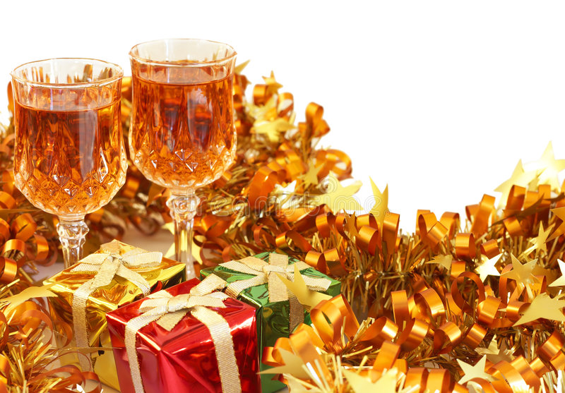 Download Colorful Christmas Gifts And Sherry Stock Image - Image of beautiful, present: 7074535
