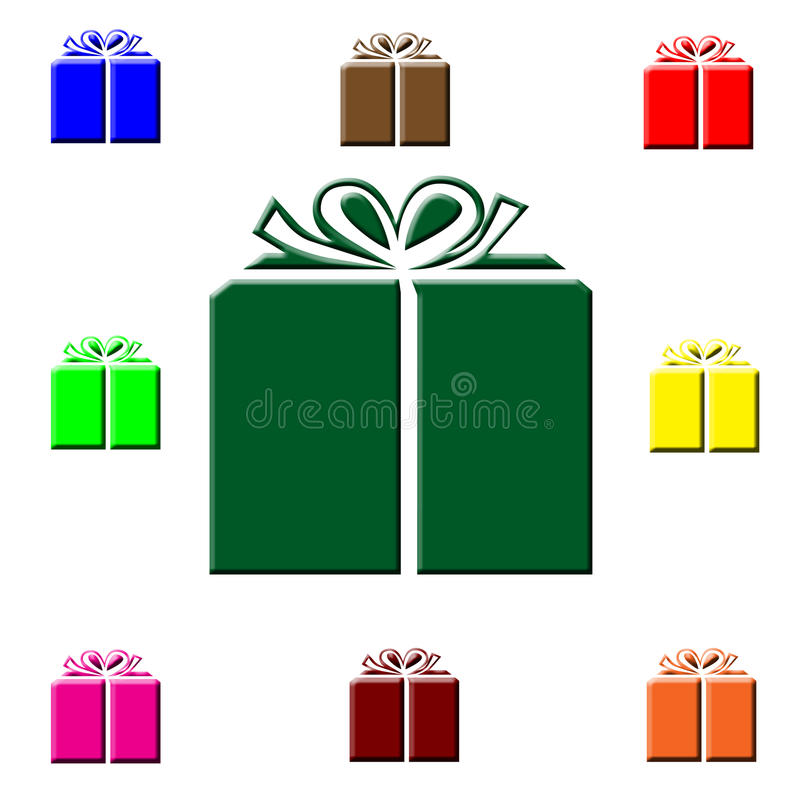 Colorful Christmas gifts. Colorful wrapped Christmas gifts illustration royalty free illustration