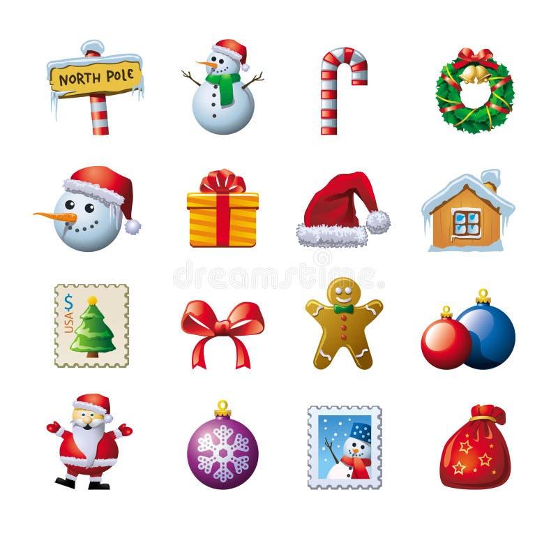 Colorful Christmas graphics royalty free illustration