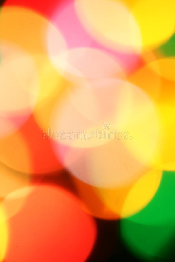 Colorful Christmas Lights Background Stock Photo