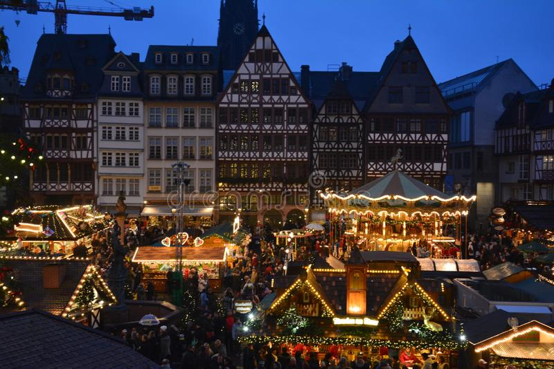 Christmas Market in Frankfurt Germany royalty free stock photography