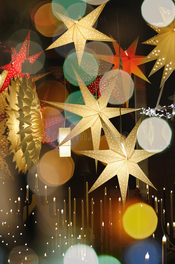 Colorful Christmas Stars royalty free stock images