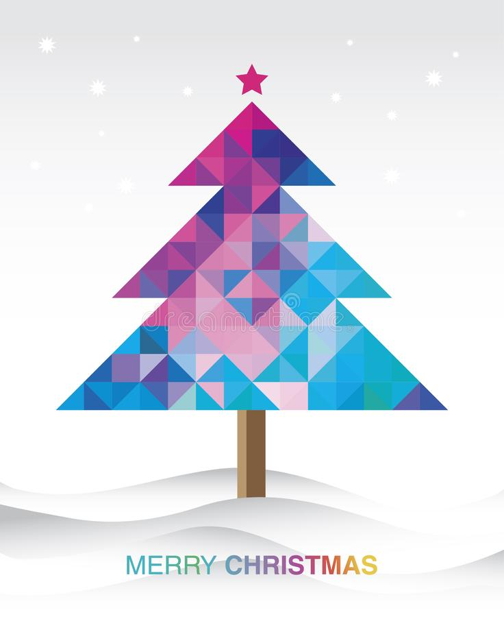 Colorful christmas tree background. The Colorful christmas tree background vector illustration