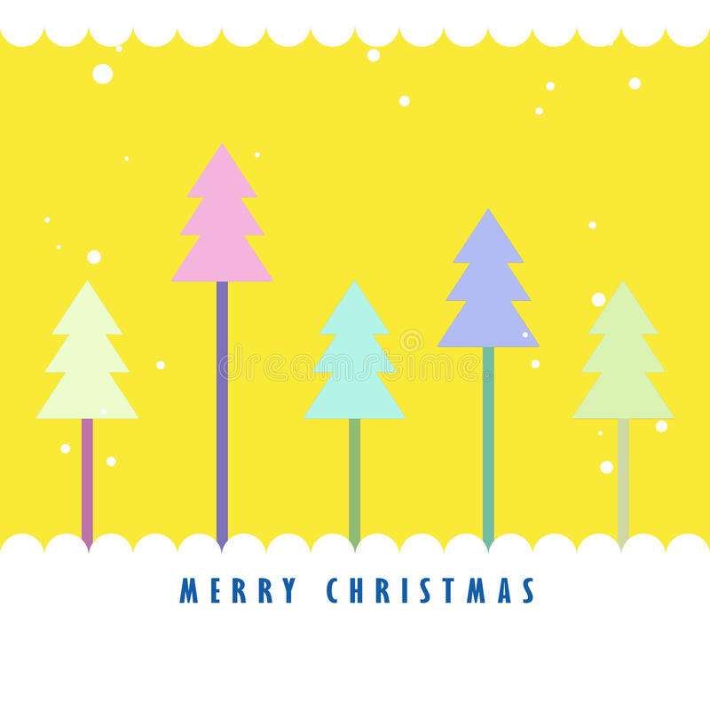Download Colorful Christmas Tree With Yellow Background Stock Illustration - Image: 21126810