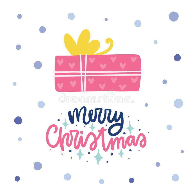 Colorful Christmas vector card vector illustration