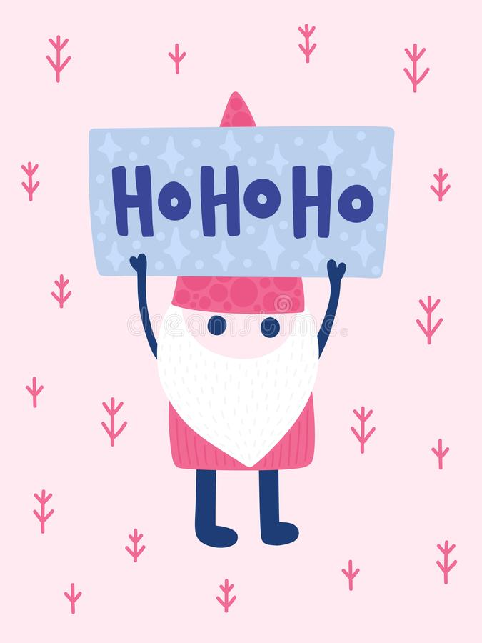 Colorful Christmas vector card royalty free illustration
