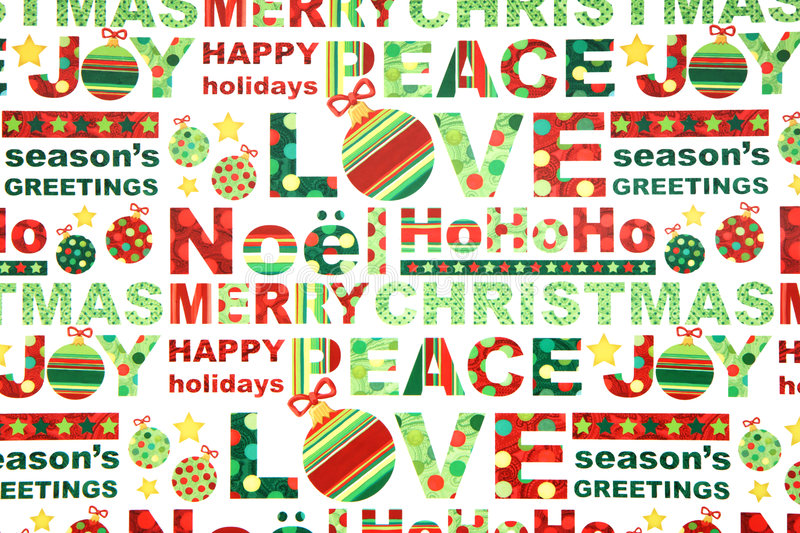 Colorful Christmas Wrapping Paper royalty free stock photo