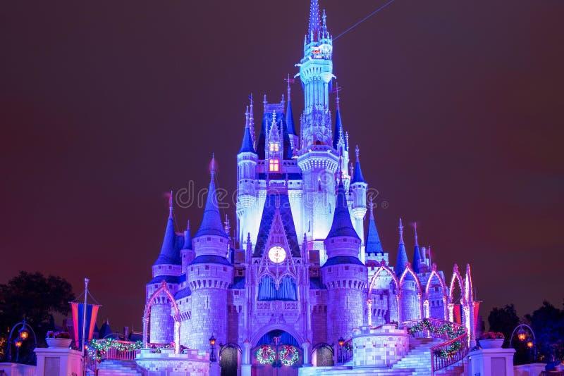 Colorful Cinderella Castle at Magic Kingdom 201 zdjęcia stock