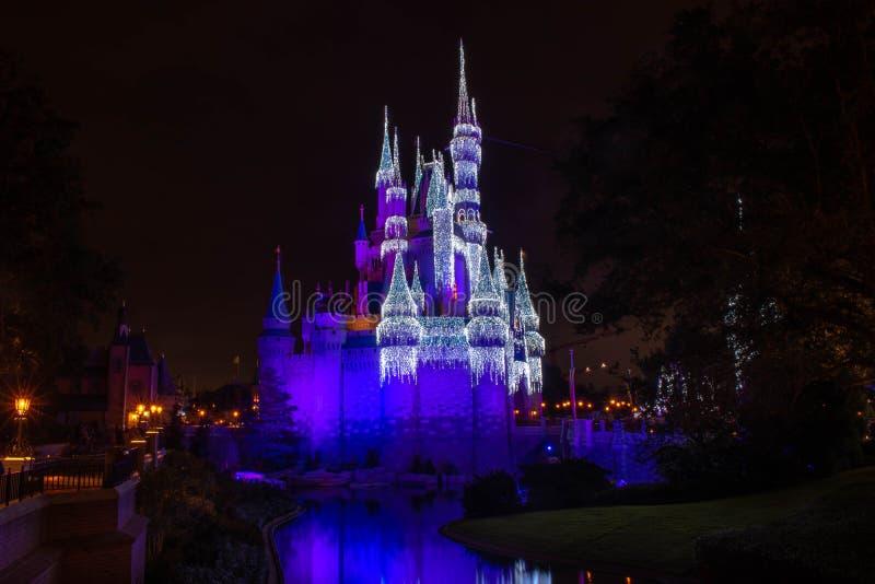 Colorful Cinderella Castle at Magic Kingdom 199 fotografia stock
