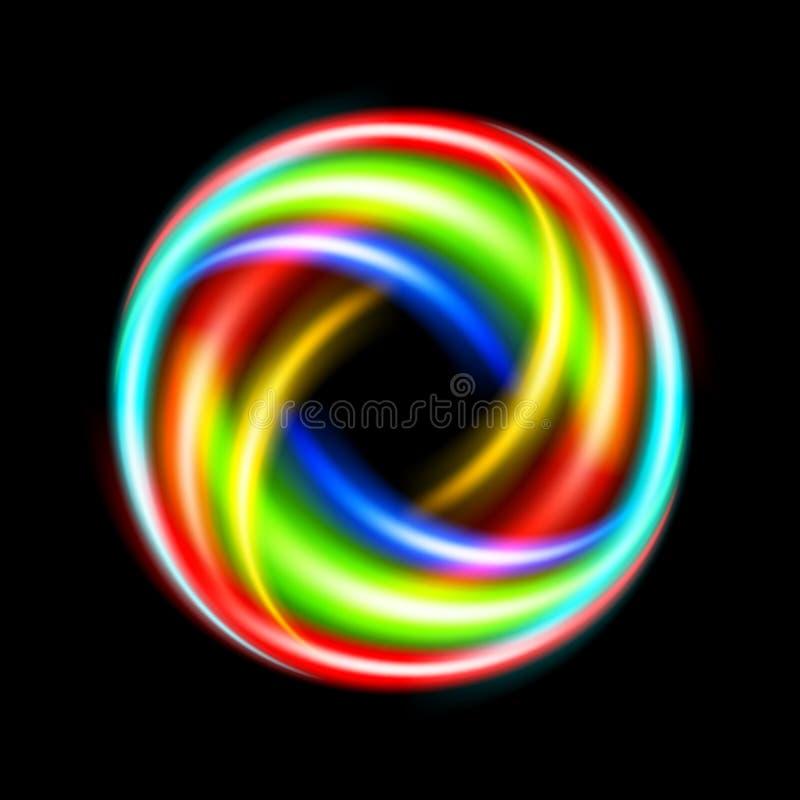 Colorful circle stock illustration