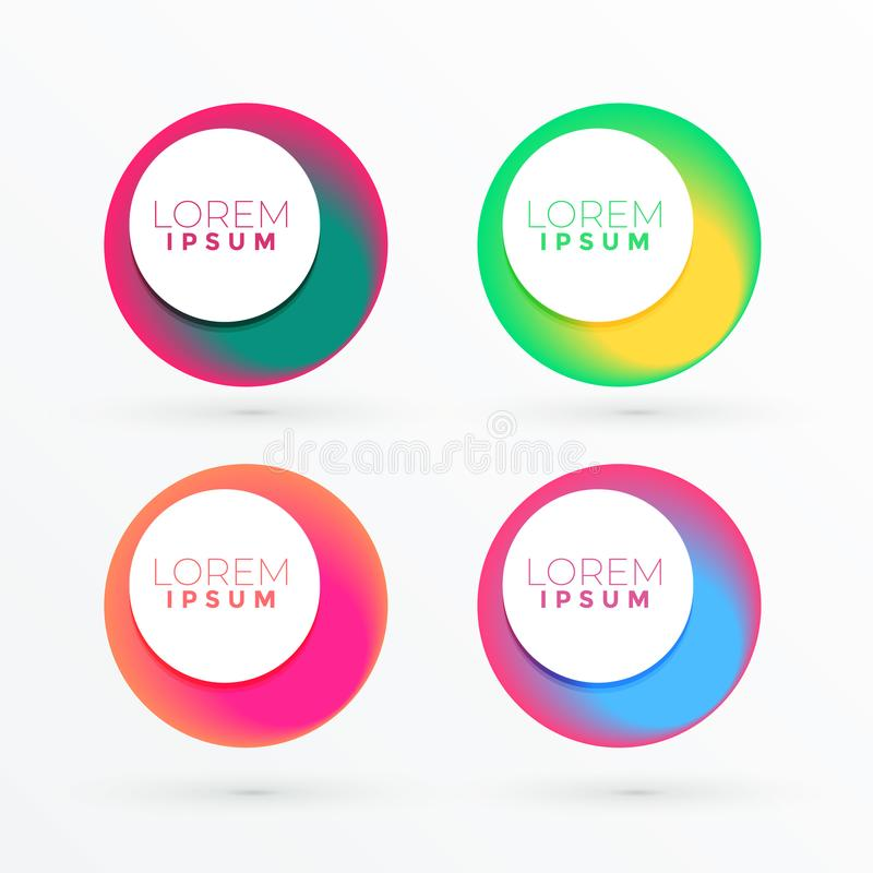 Colorful circle abstract banner with text space vector illustration