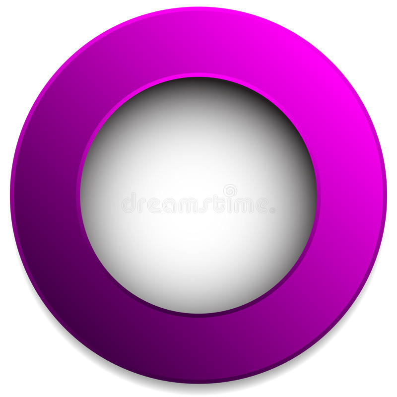 Colorful circle badge, button, pin, label element. Blank, empty royalty free illustration