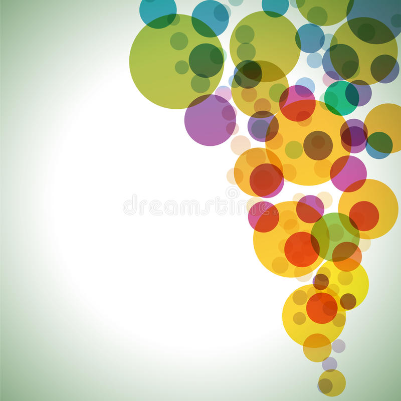 Colorful circles background stock illustration