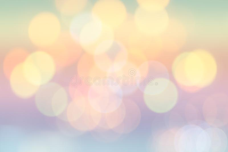Colorful circles of colorful bright light abstract background with bokeh defocused lights royalty free stock images