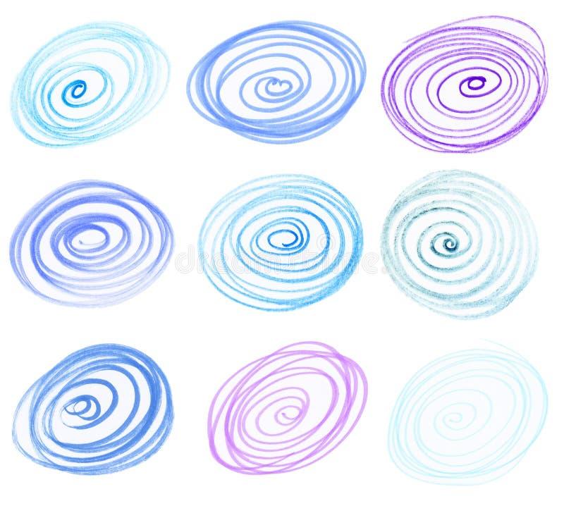 Colorful circles stock photos