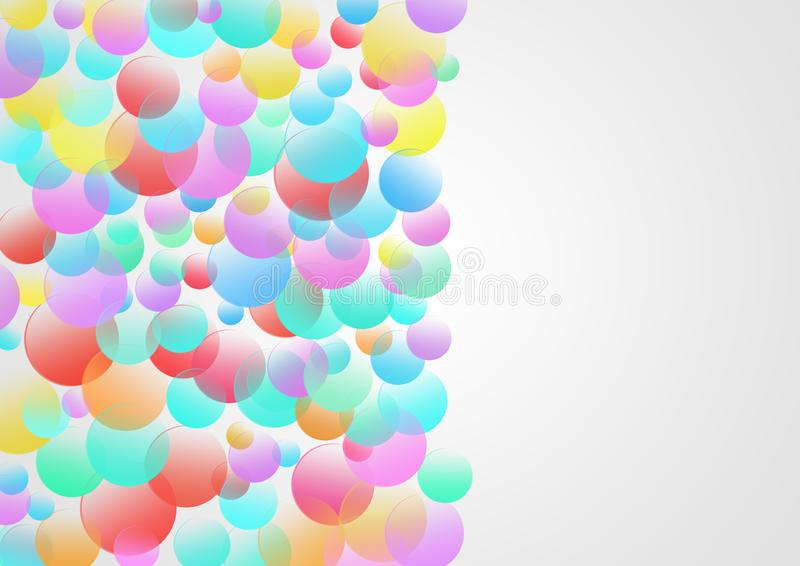 Colorful Circles in Grey Background royalty free illustration