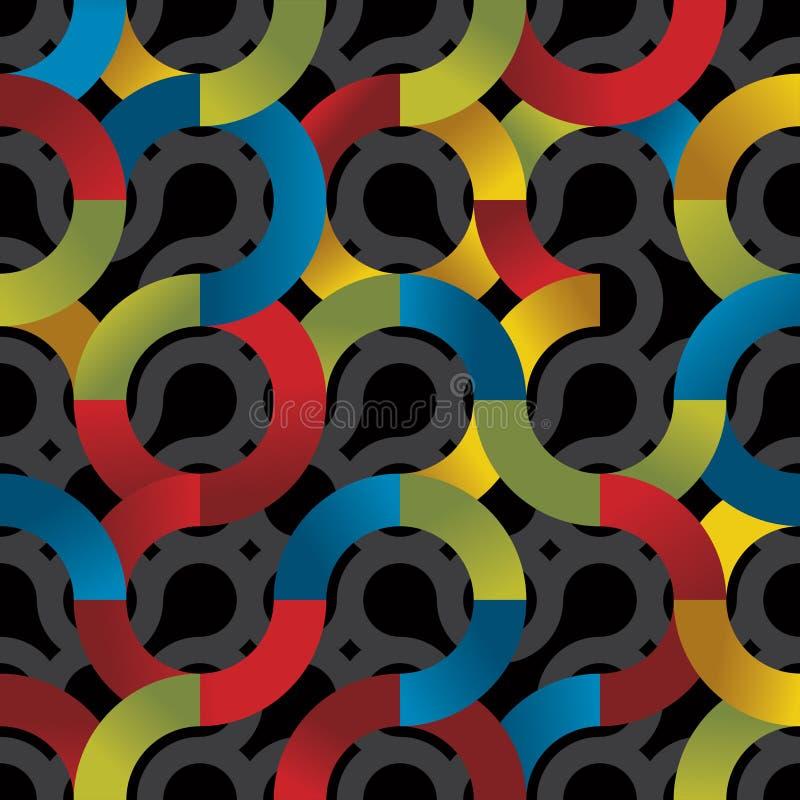 Colorful circles seamless pattern. stock illustration