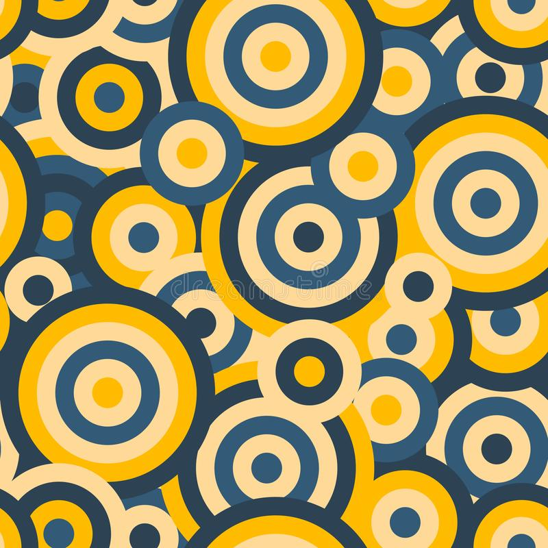 Colorful circles seamless repetitive vector pattern texture background vector illustration