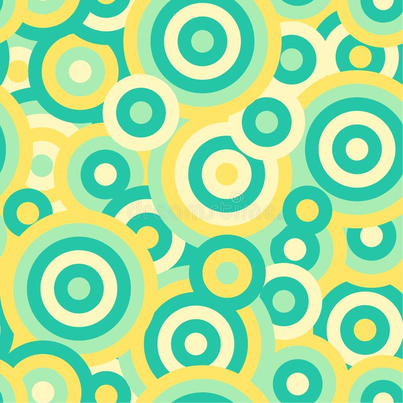 Colorful circles seamless repetitive vector pattern texture background royalty free illustration