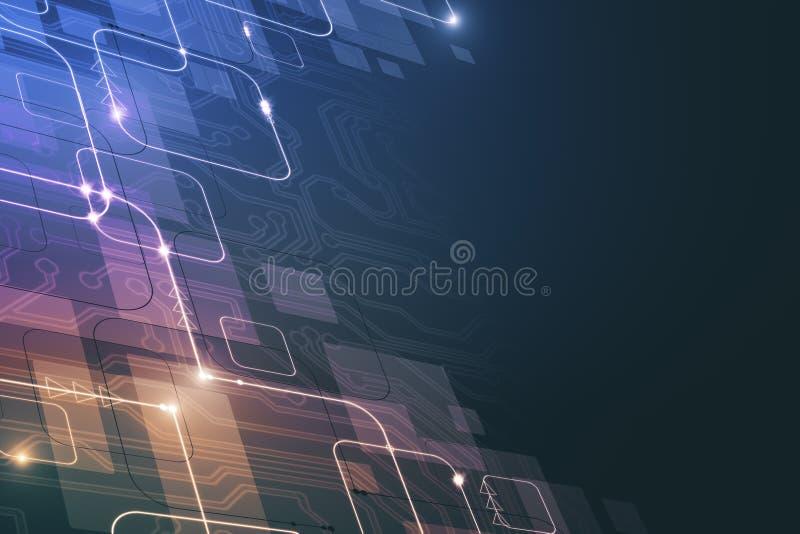 Colorful circuit wallpaper stock illustration. Illustration of ...