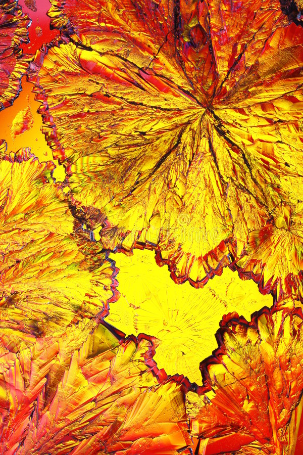 Colorful citric acid crystals stock photography