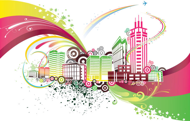 Download Colorful City Stock Photo - Image: 10828340