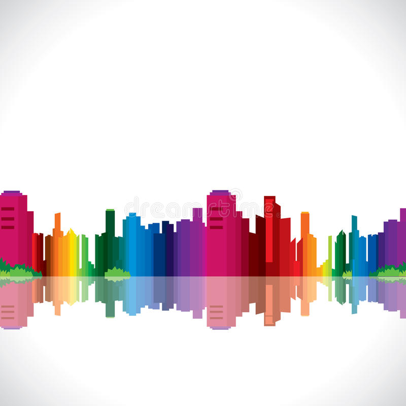 Download Colorful city stock vector. Illustration of grey, industry - 28106197