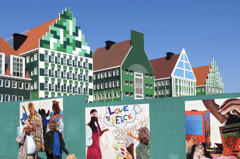 Download Colorful City Hall Zaandam, Netherlands Editorial Photography -  Image of building, design: