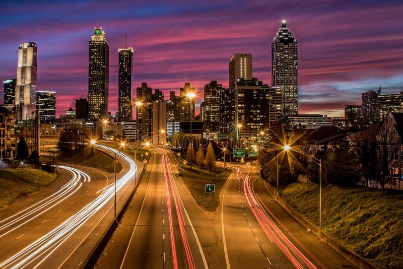 Downtown Atlanta Taken From the Jackson Street Bridge stock images